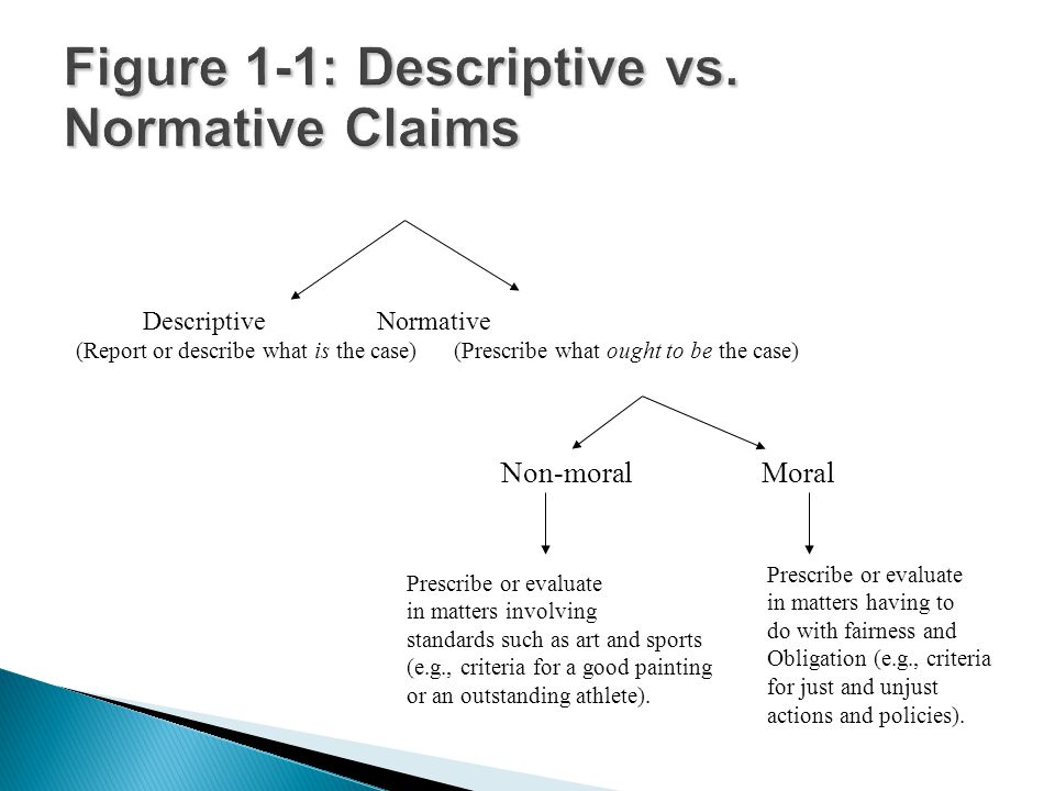 Figure 1-1: Descriptive vs. Normative Claims