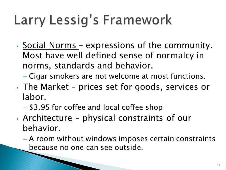 Larry Lessig's Framework