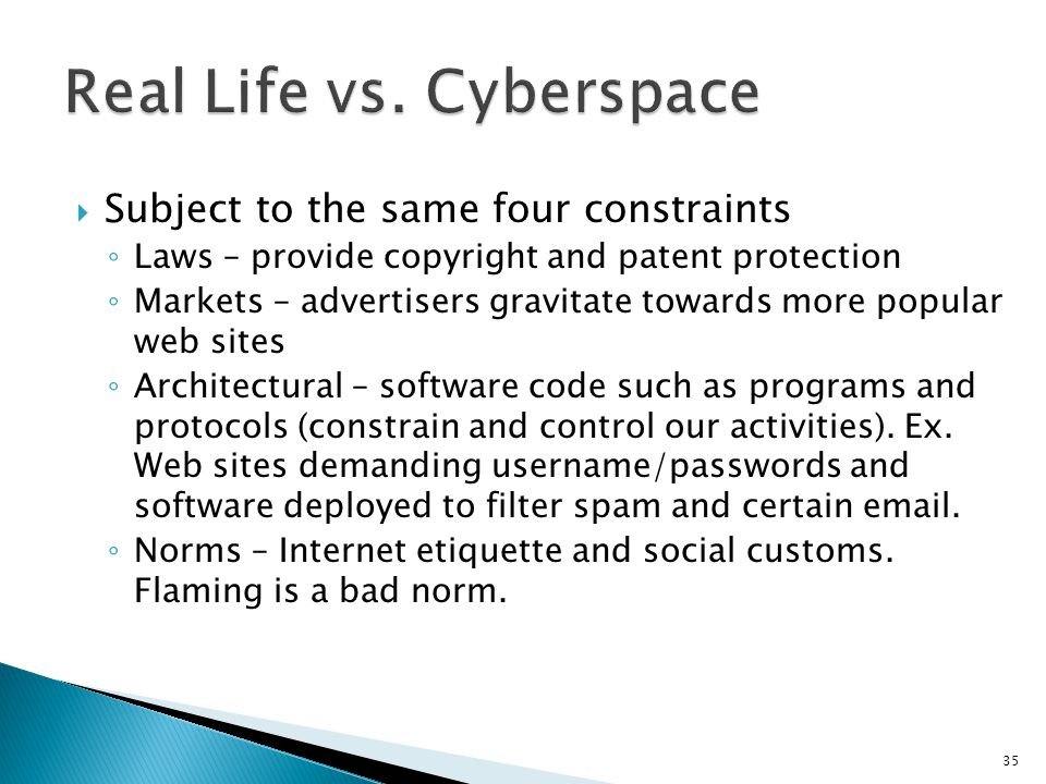 Real Life vs. Cyberspace