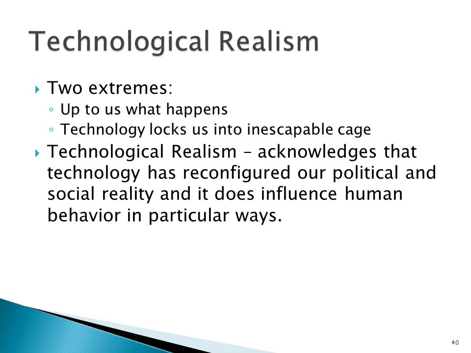 Technological Realism