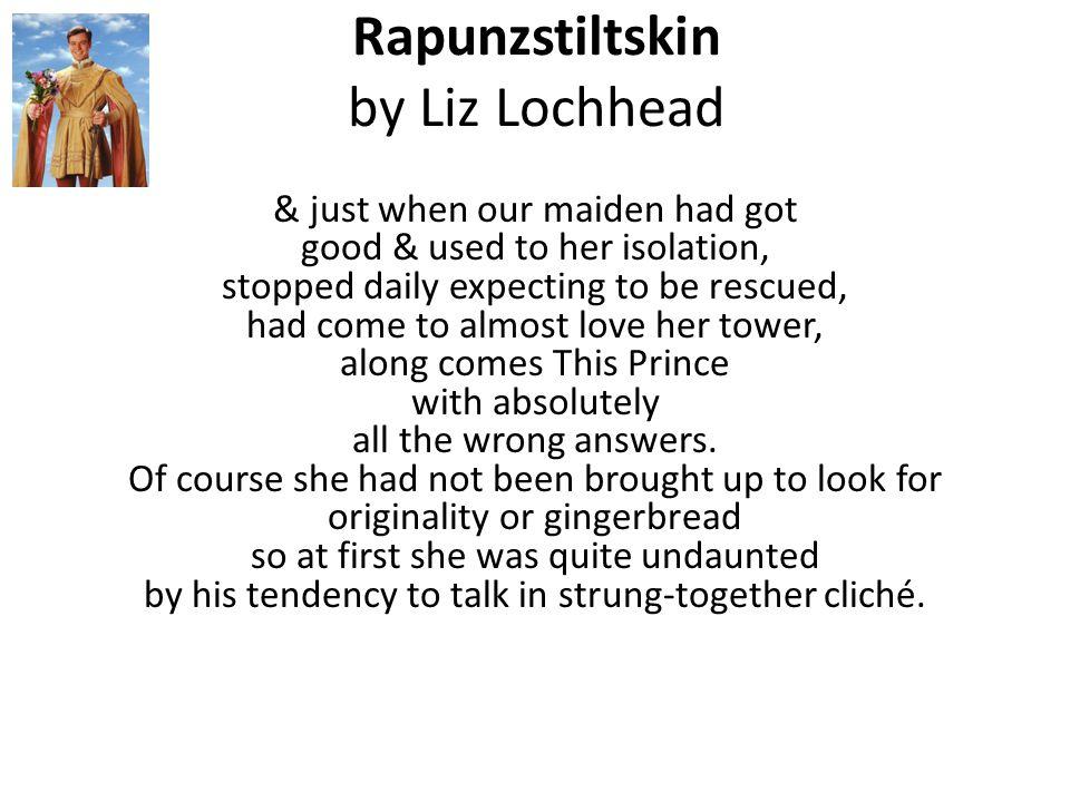 Rapunzstiltskin by Liz Lochhead