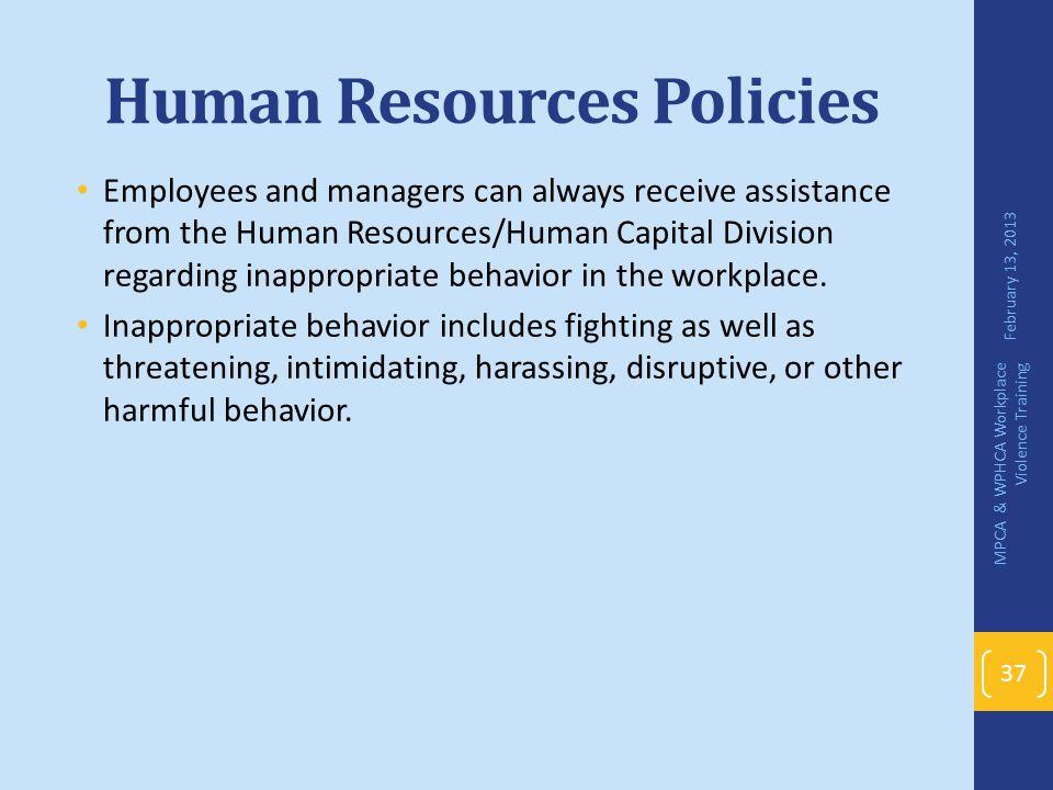 Human Resources Policies