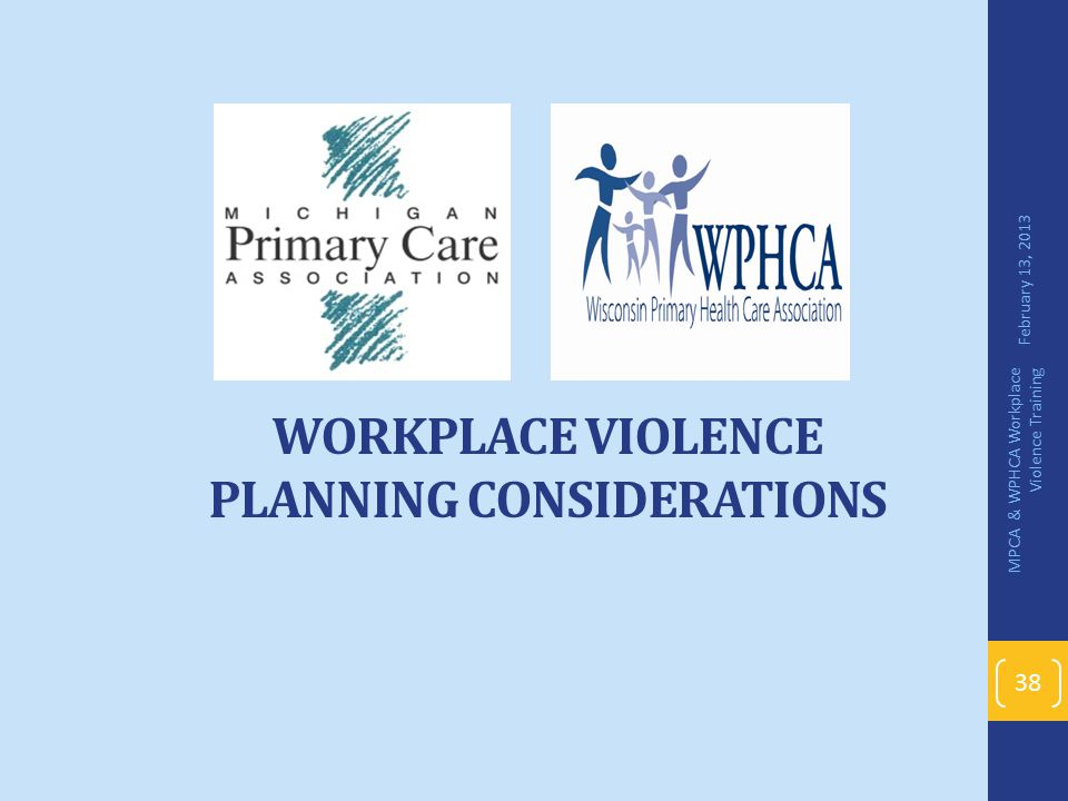 Workplace Violence Planning Considerations