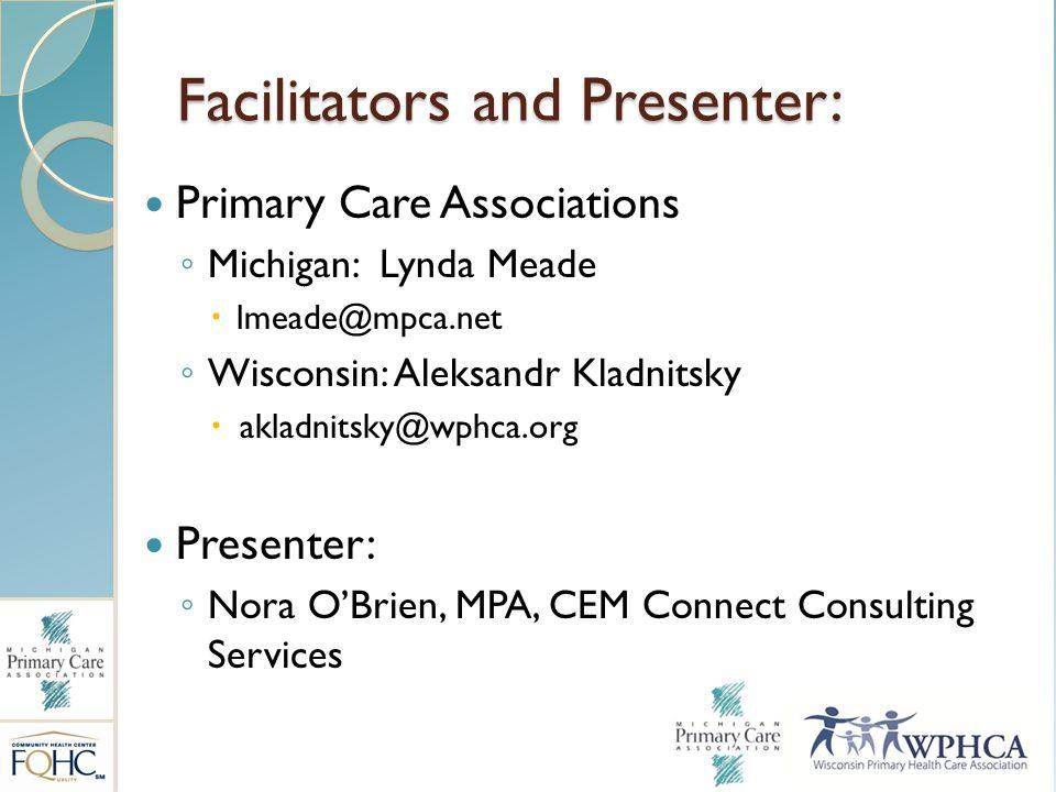 Facilitators and Presenter: