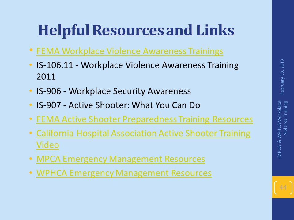 Helpful Resources and Links
