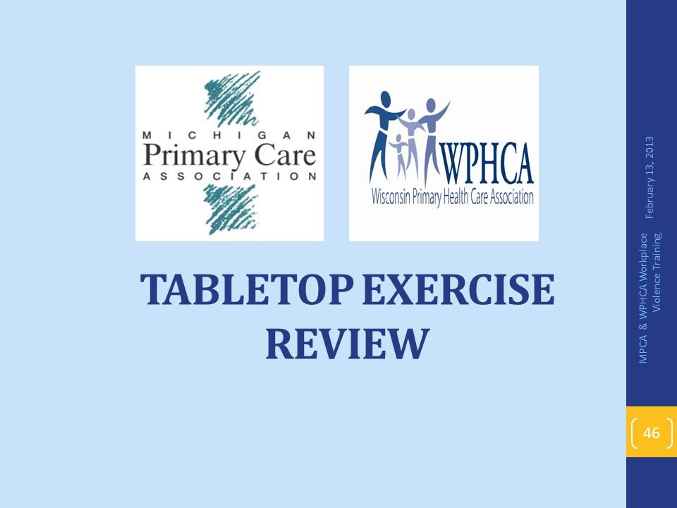 Tabletop Exercise Review