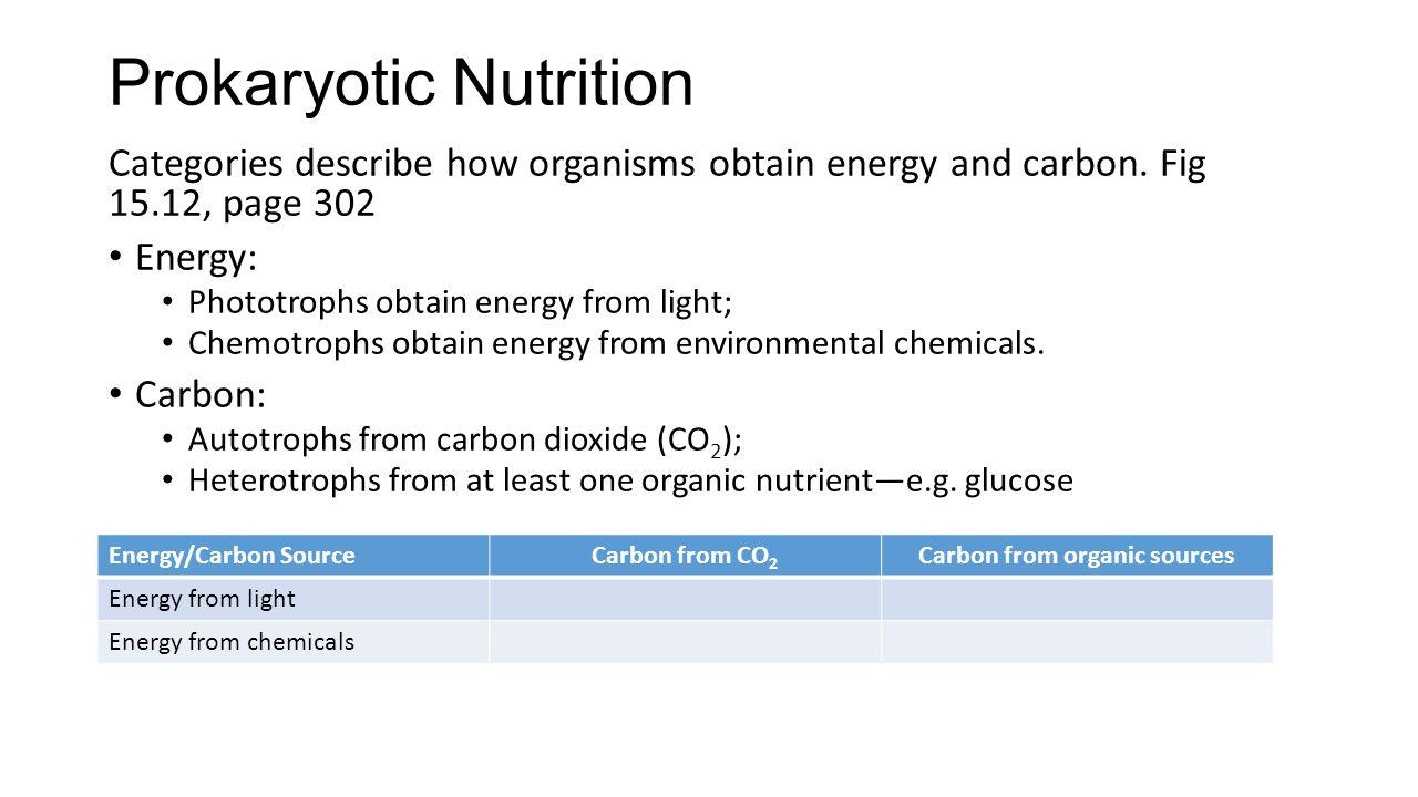 Prokaryotic Nutrition