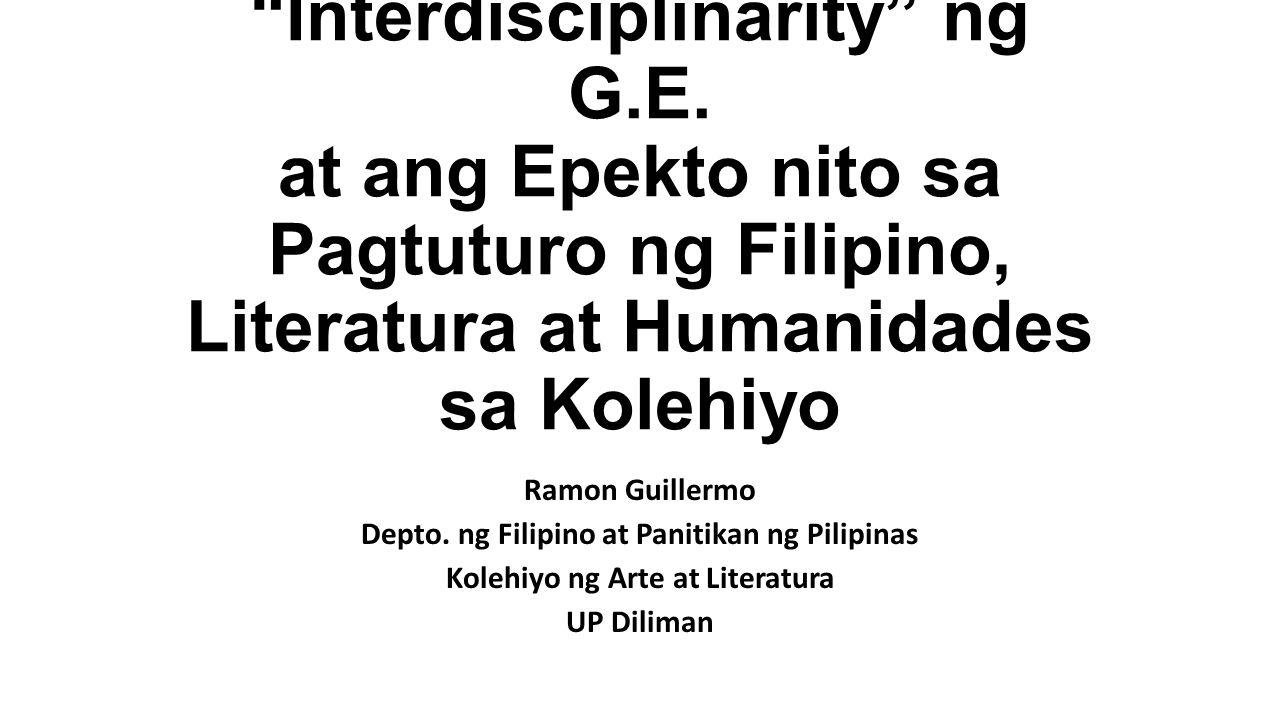 Interdisciplinarity ng G. E