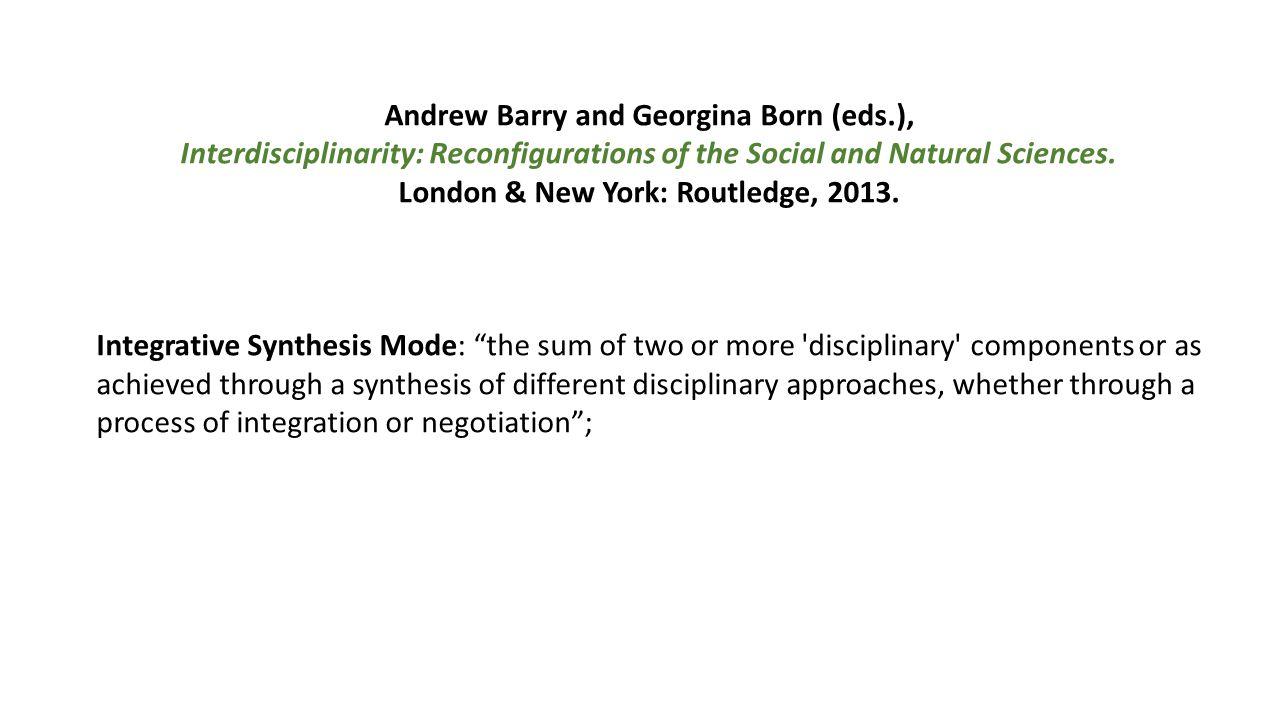 Andrew Barry and Georgina Born (eds.),