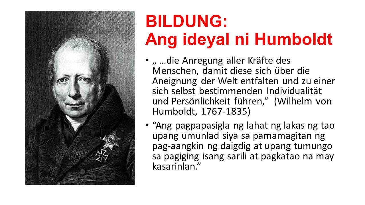 BILDUNG: Ang ideyal ni Humboldt