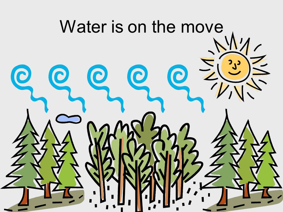 Water is on the move