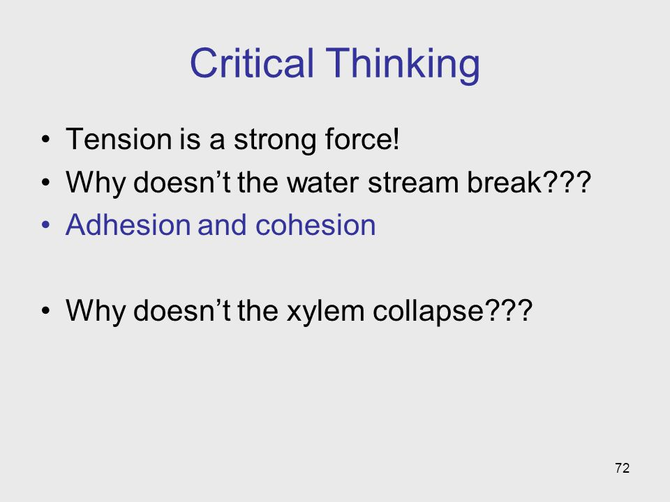 Critical Thinking Tension is a strong force!
