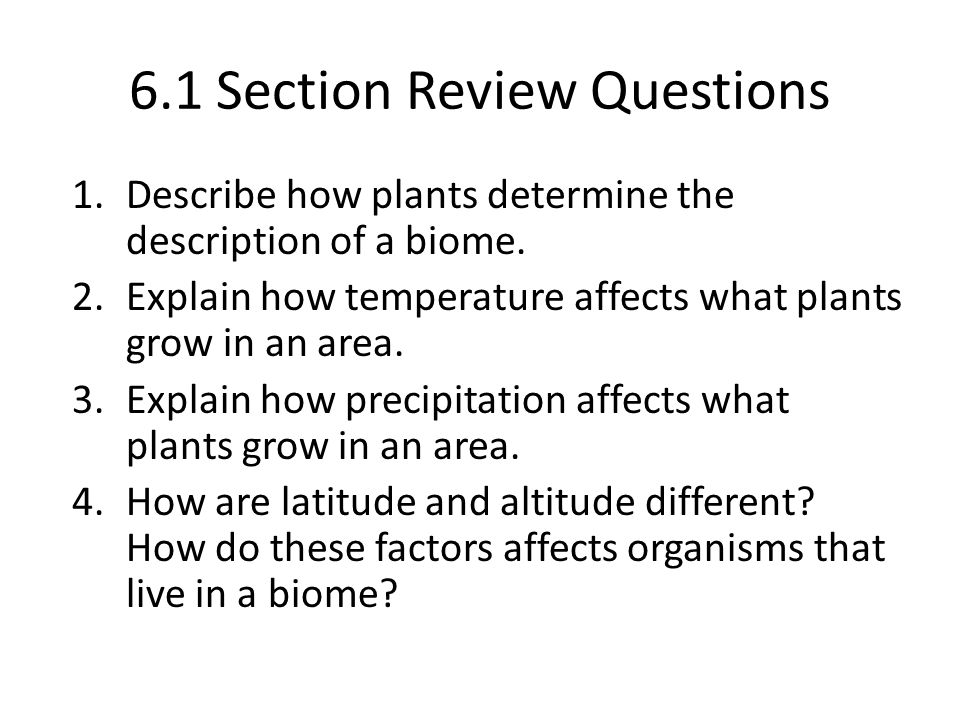 6.1 Section Review Questions