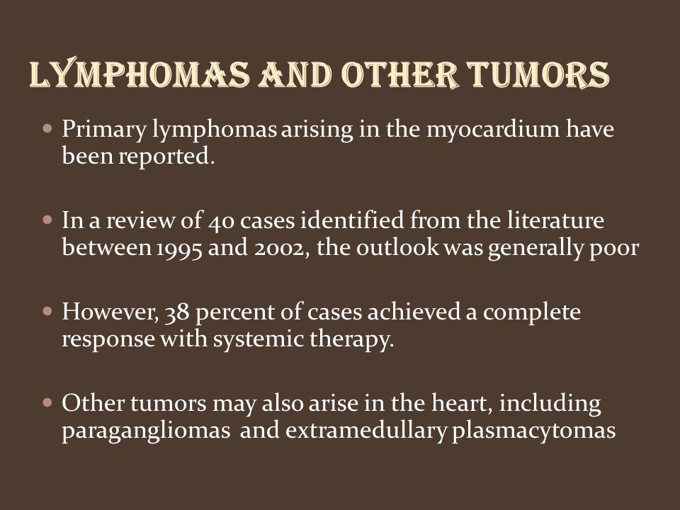 Lymphomas and other tumors