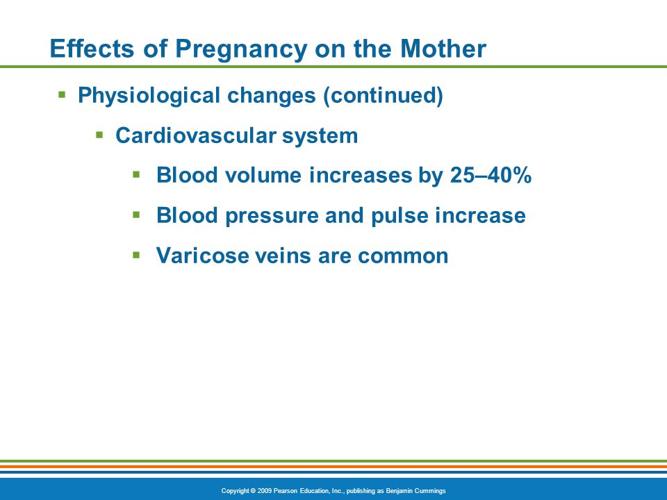 Effects of Pregnancy on the Mother