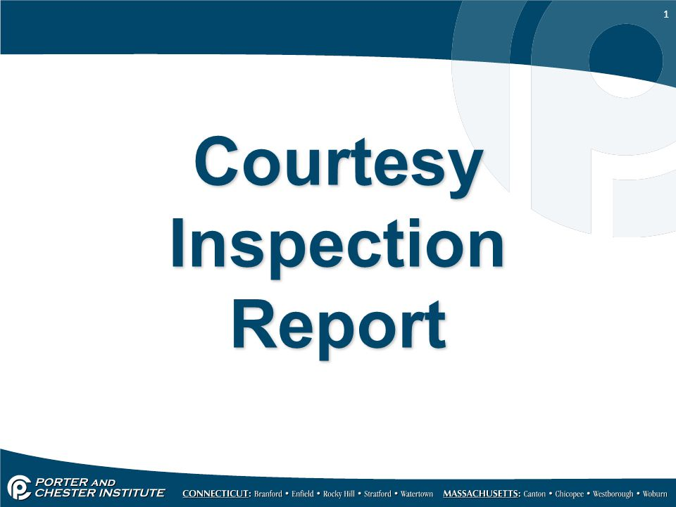 Courtesy Inspection Report