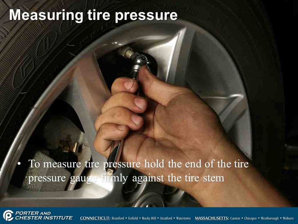 Measuring tire pressure
