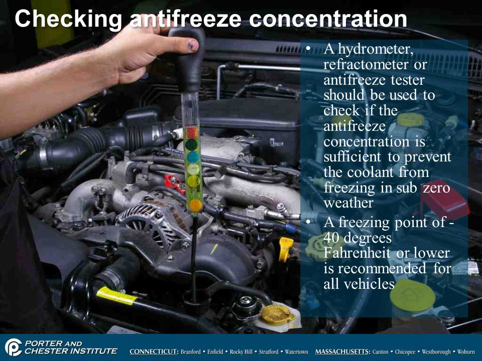 Checking antifreeze concentration