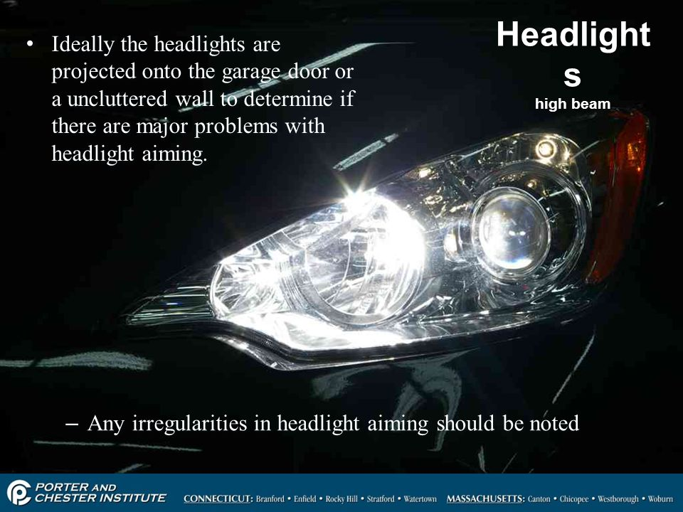 Headlights high beam
