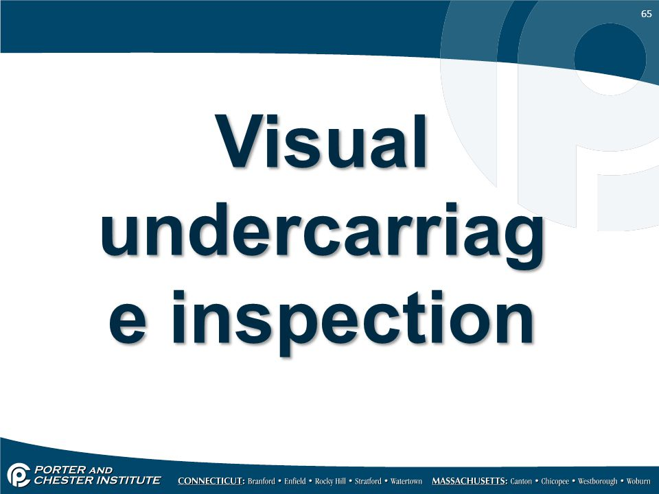 Visual undercarriage inspection