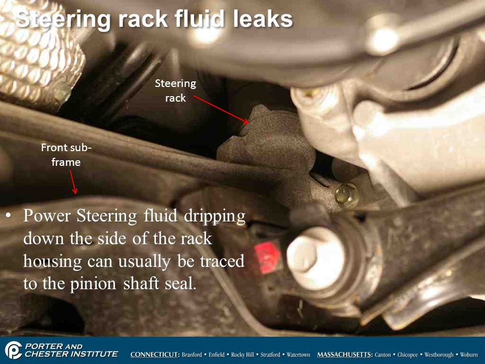 Steering rack fluid leaks