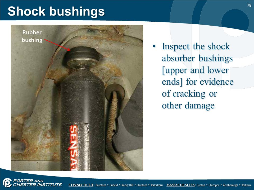 Shock bushings Rubber bushing.