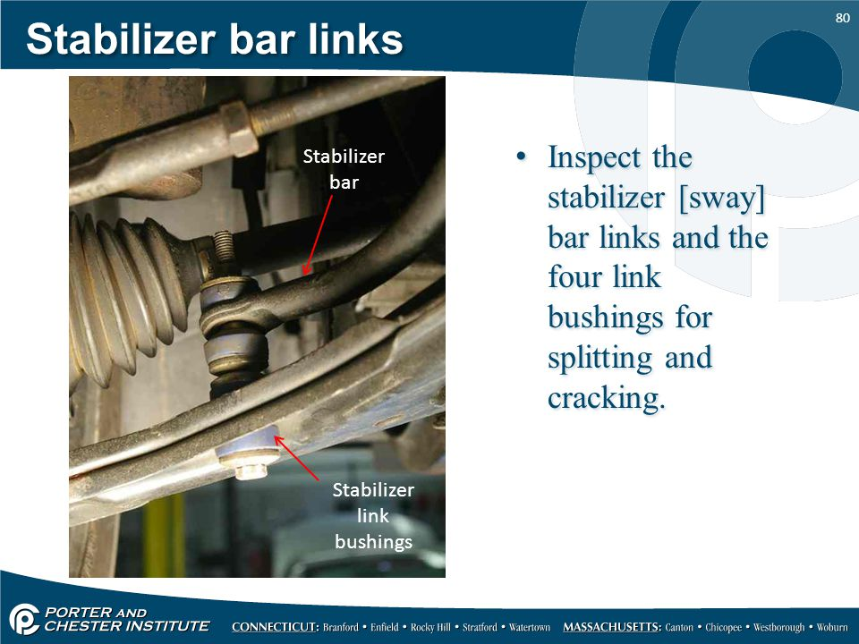 Stabilizer link bushings