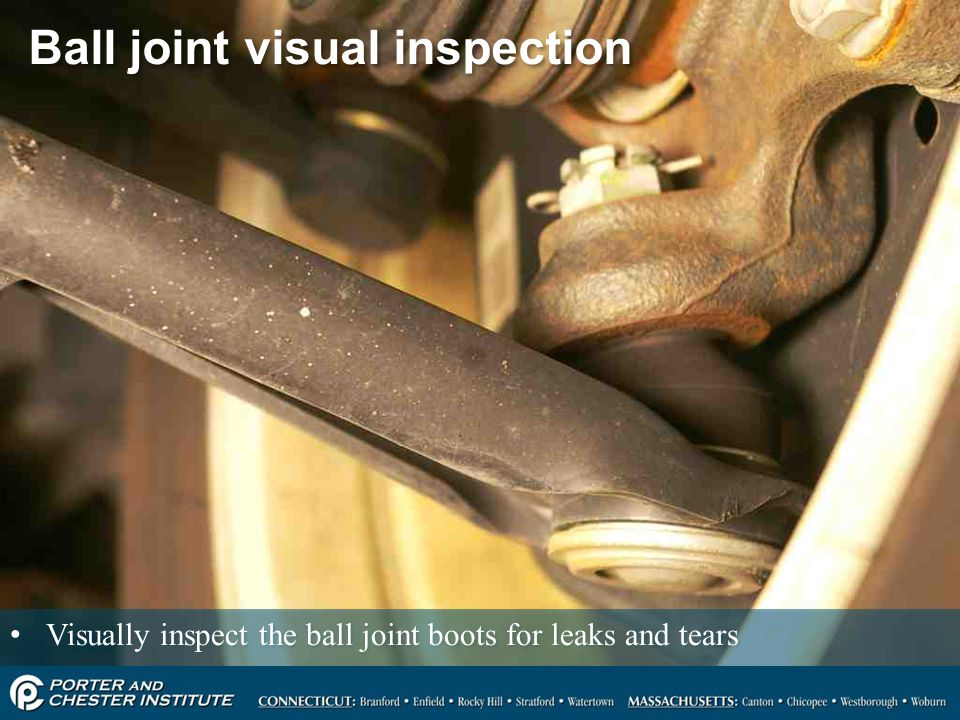 Ball joint visual inspection
