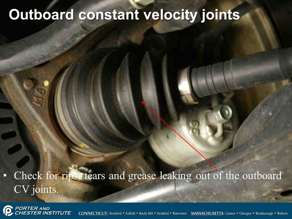 Outboard constant velocity joints