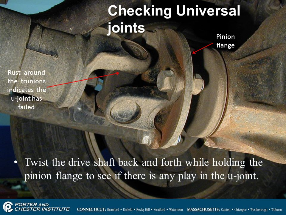 Checking Universal joints