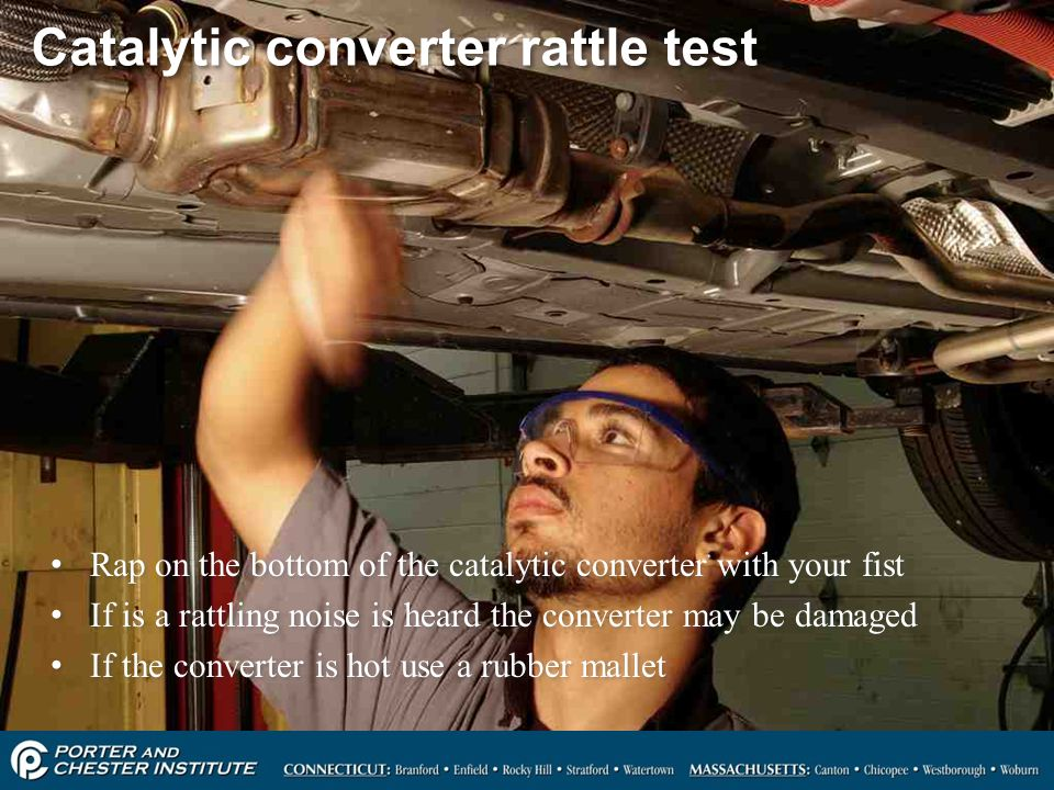 Catalytic converter rattle test
