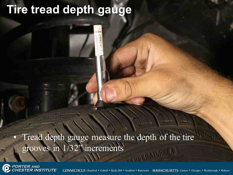 Tire tread depth gauge Tread depth gauge measure the depth of the tire grooves in 1/32 increments