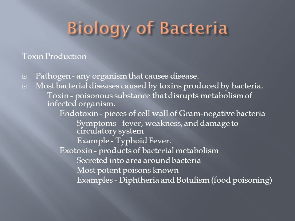 Biology of Bacteria Toxin Production