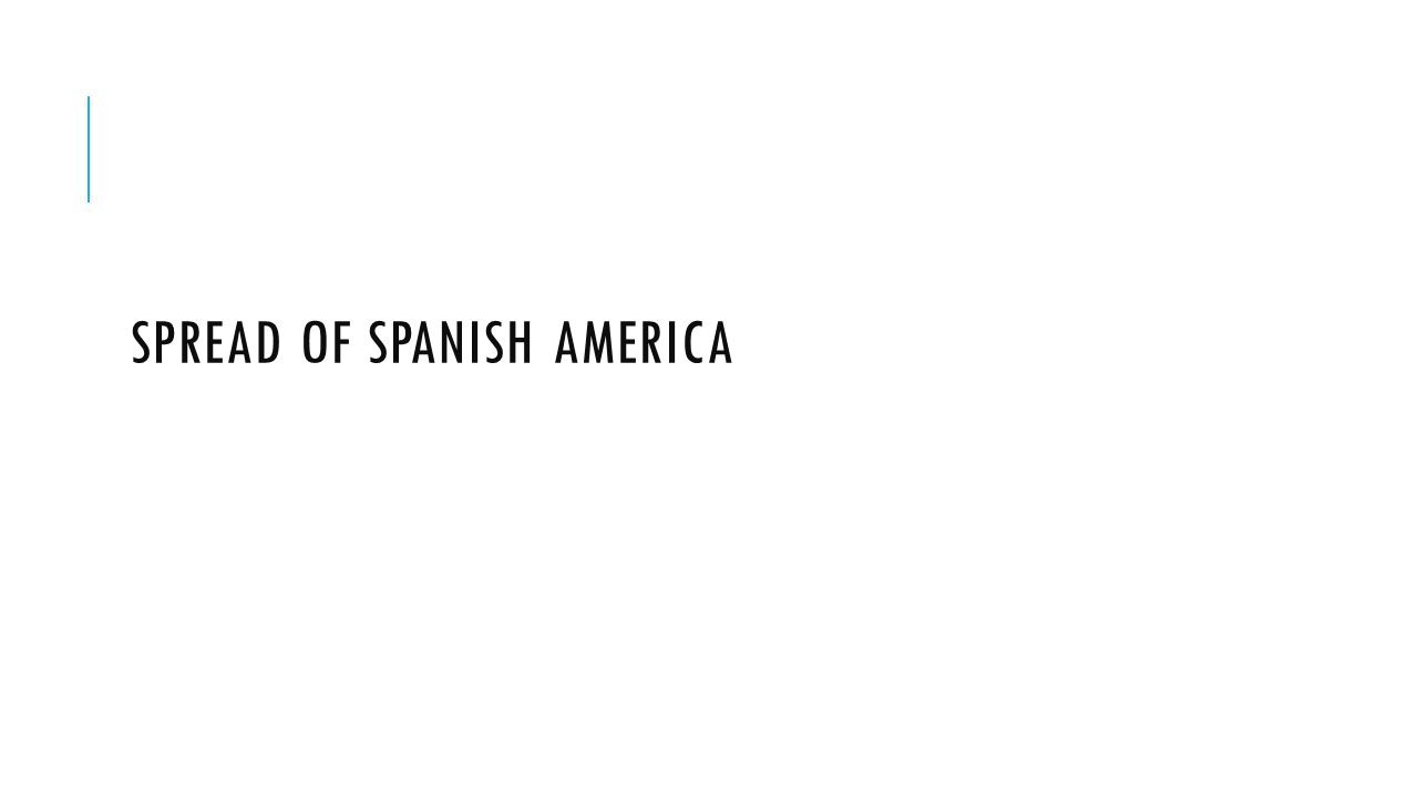 Spread of Spanish America