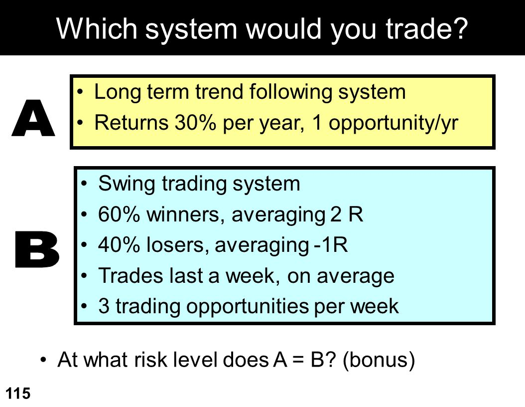 Which system would you trade