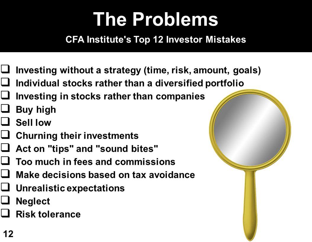 CFA Institute s Top 12 Investor Mistakes