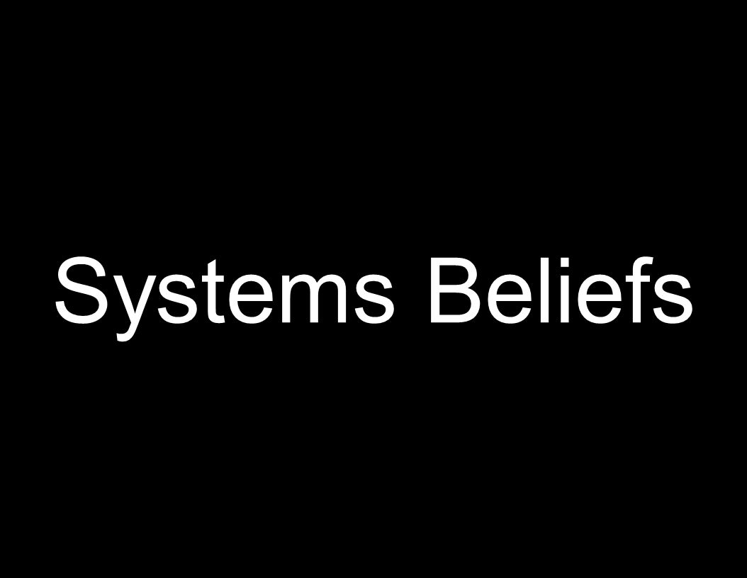 Systems Beliefs