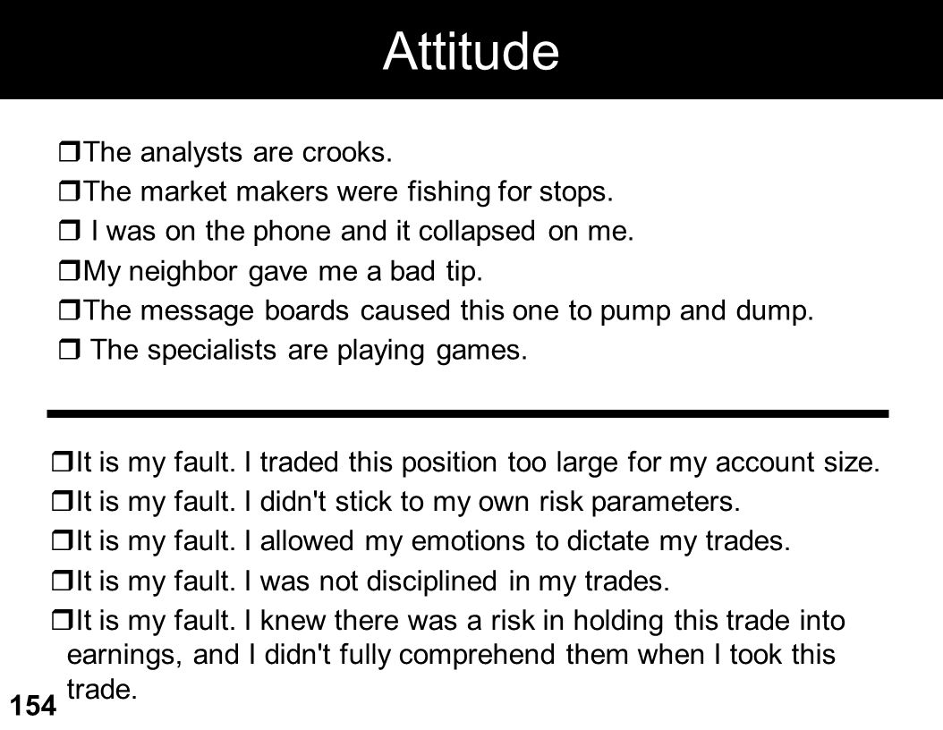 Attitude The analysts are crooks.