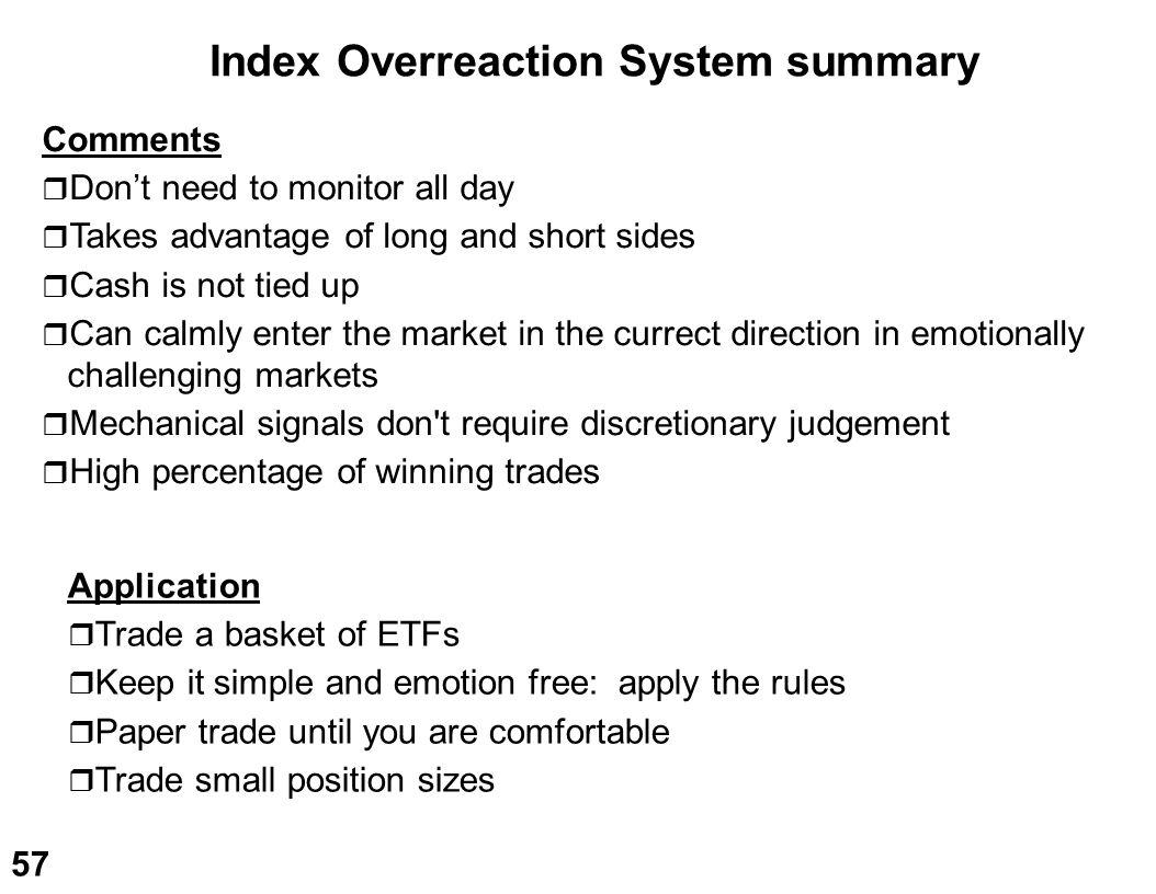 Index Overreaction System summary