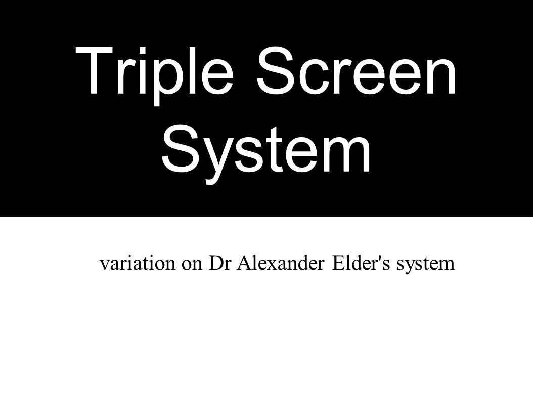 variation on Dr Alexander Elder s system