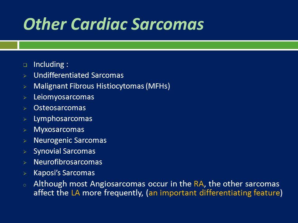 Other Cardiac Sarcomas