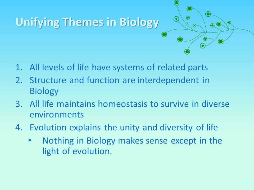 Unifying Themes in Biology