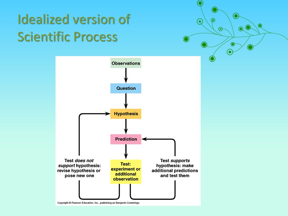 Idealized version of Scientific Process