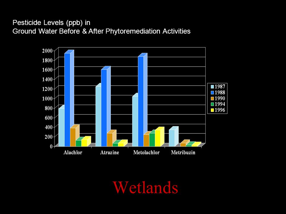 Wetlands Pesticide Levels (ppb) in