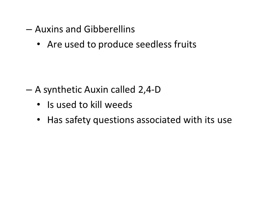 Auxins and Gibberellins