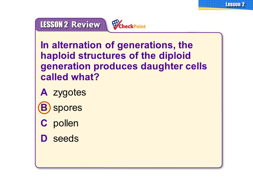 3.2 Plant Reproduction A. B. C. D.