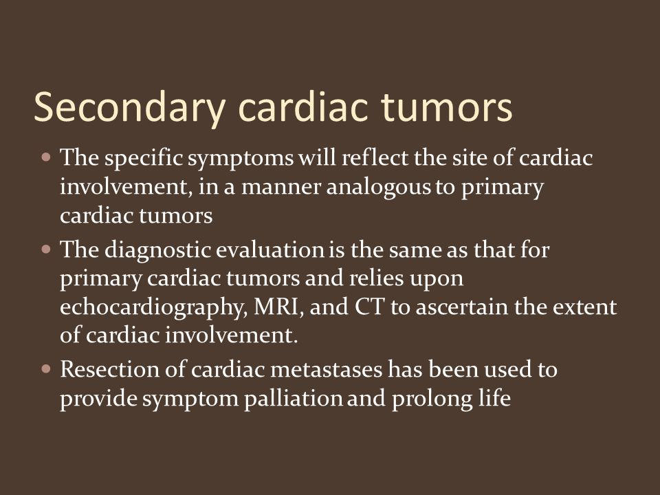 Secondary cardiac tumors
