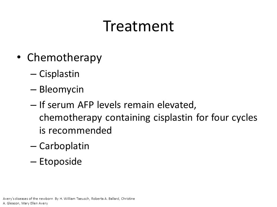 Treatment Chemotherapy Cisplastin Bleomycin
