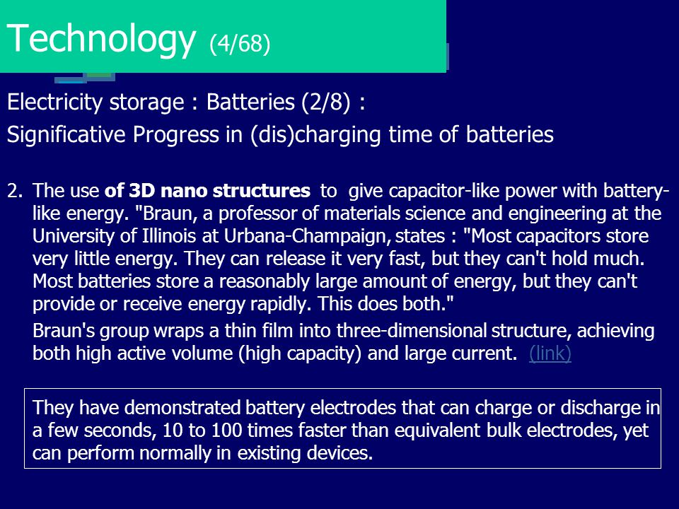 Technology (4/68) Electricity storage : Batteries (2/8) :