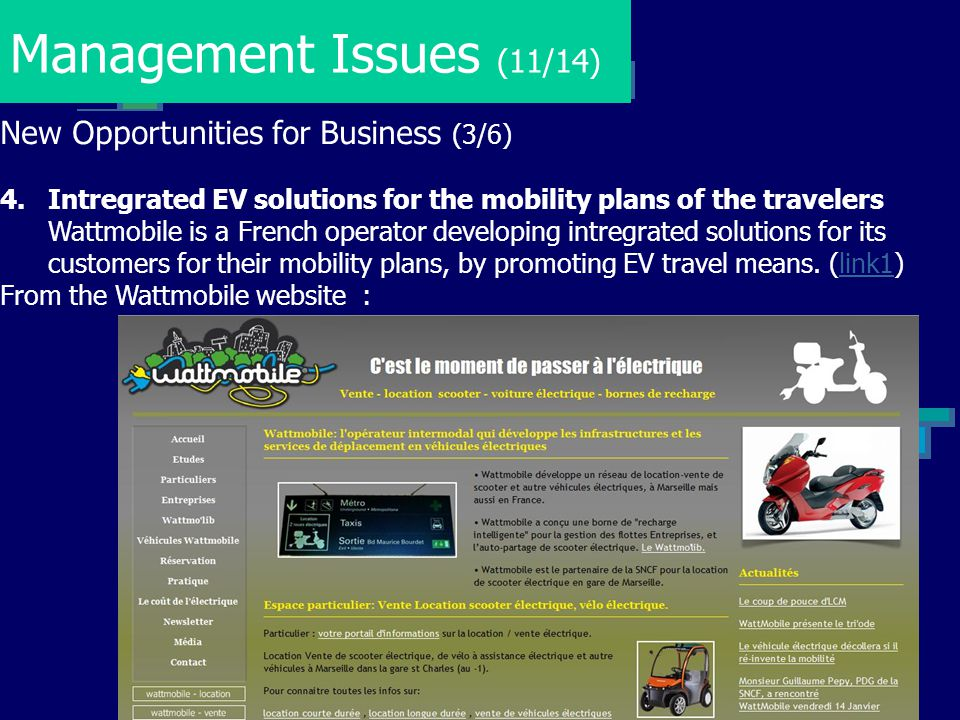 Management Issues (11/14) New Opportunities for Business (3/6)